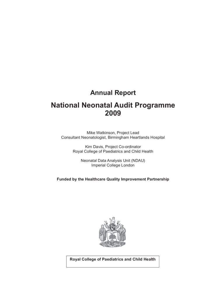 National Neonatal Audit Programme Annual Report 2010
