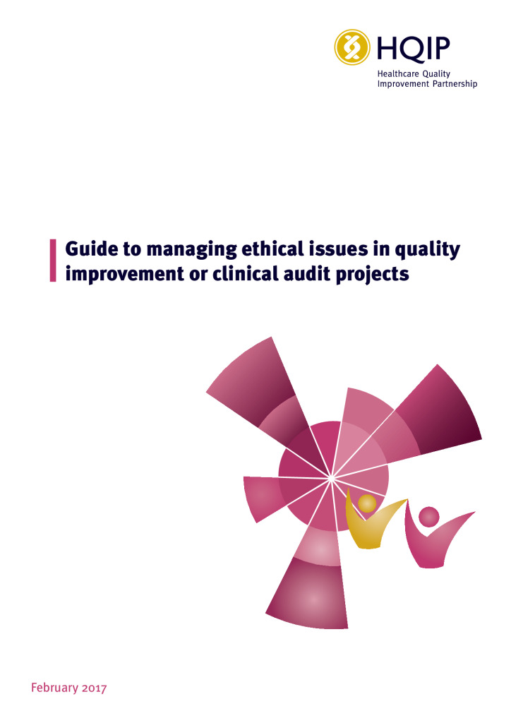 Guide to managing ethical issues in quality improvement or clinical audit projects