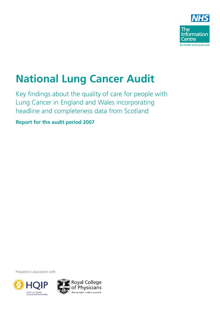 National Lung Cancer Audit 2007