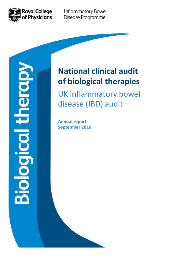 National clinical audit of biological therapies – UK inflammatory bowel disease (IBD) audit
