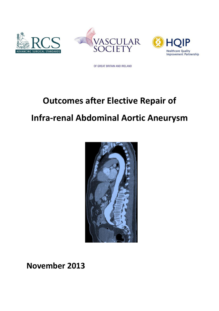 NVR: Outcomes after Elective Repair of Infra-renal Abdominal Aortic Aneurysm 2013