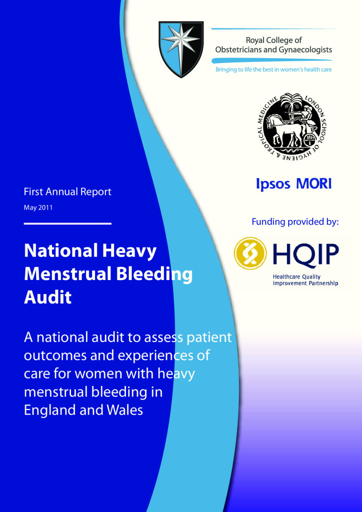 Heavy Menstrual Bleeding Audit: Reports from 2011 to 2014