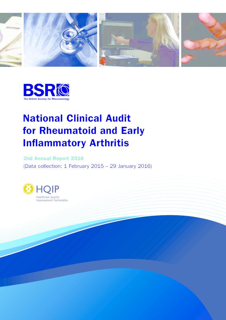 Rheumatoid and Early Inflammatory Arthritis 2nd Annual Report 2016