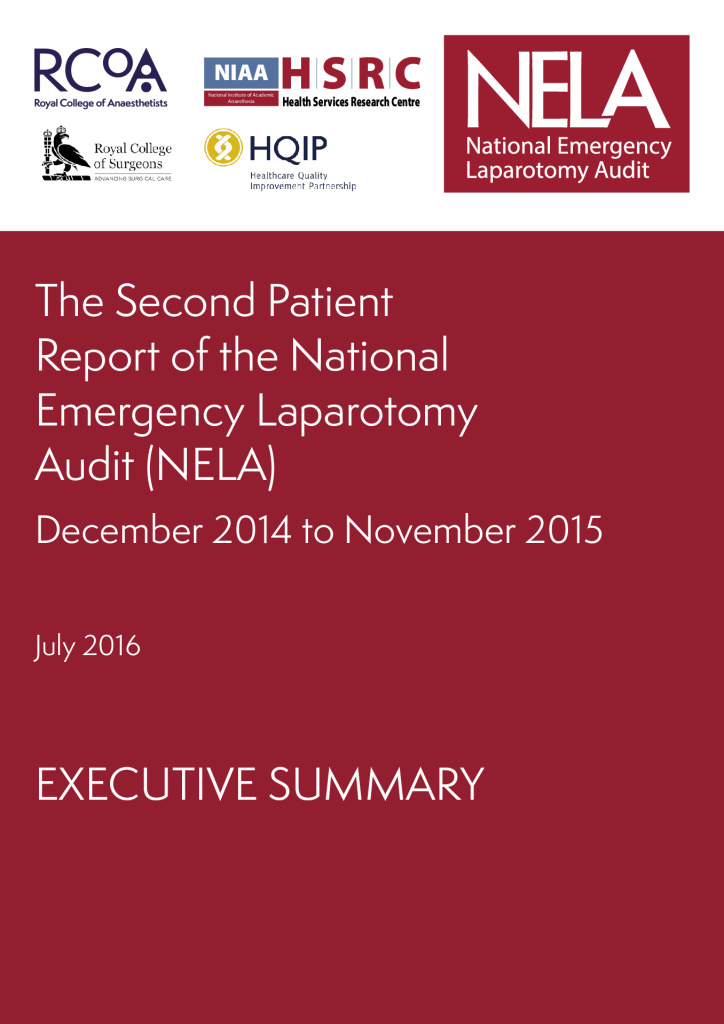 Executive Summary: The Second Patient Report of the National Emergency Laparotomy Audit