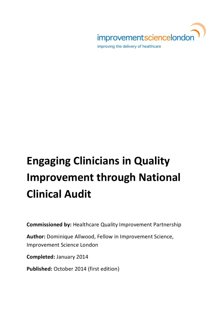 Engaging clinicians in QI through national clinical audit