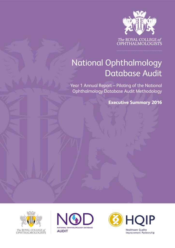 National Opthalmology Database Audit – Executive Summary