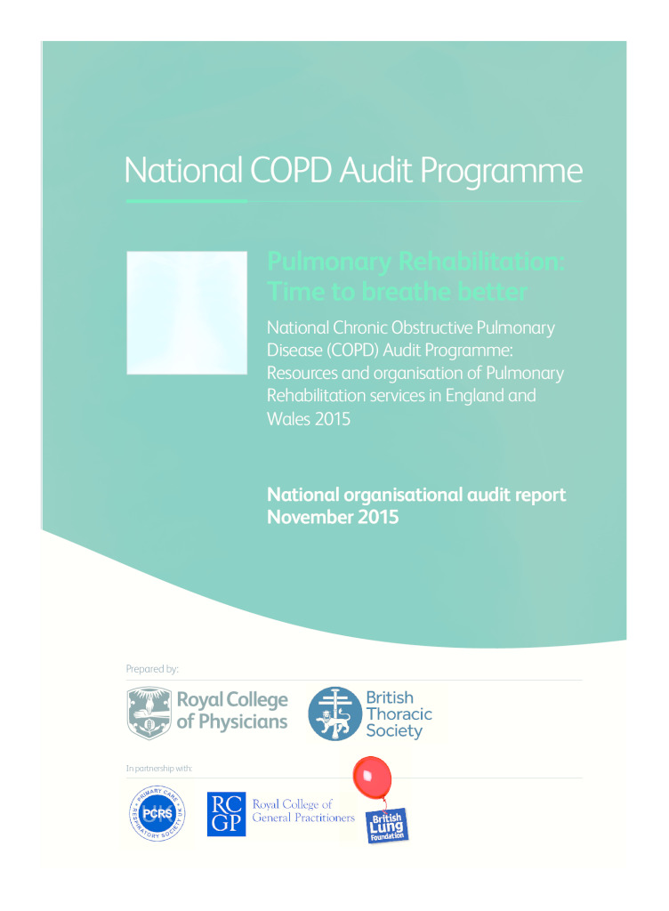 Pulmonary rehabilitation organisational report: time to breathe better