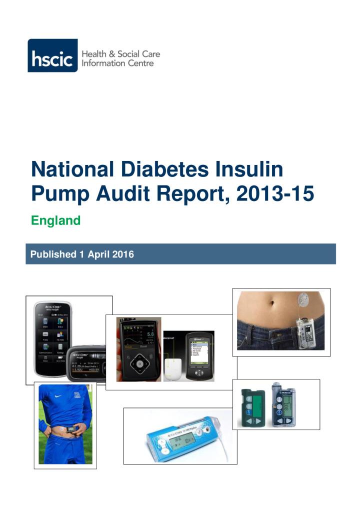 National Diabetes Insulin Pump Audit Report, 2013-15