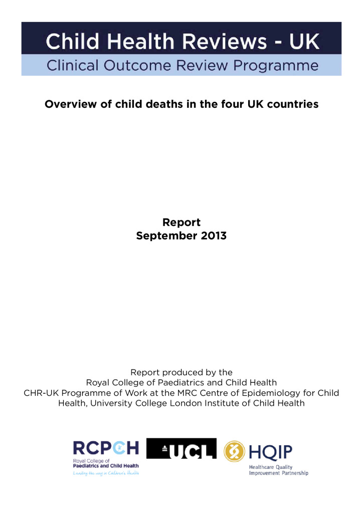 Overview of child deaths in the four UK countries