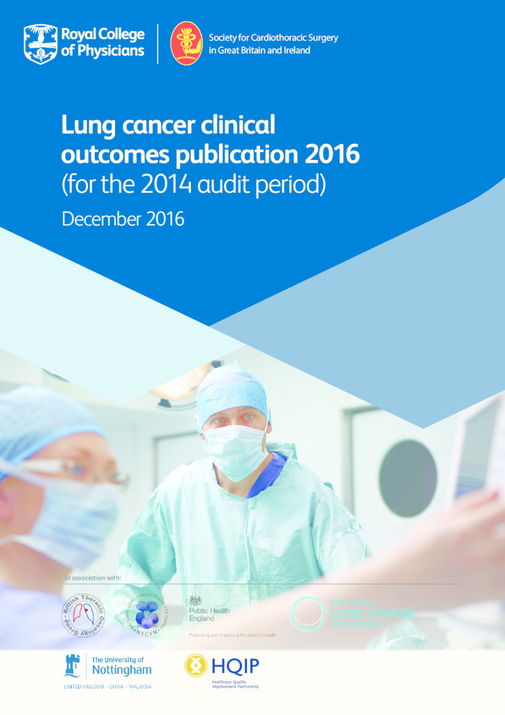 Lung cancer clinical outcomes publication 2016
