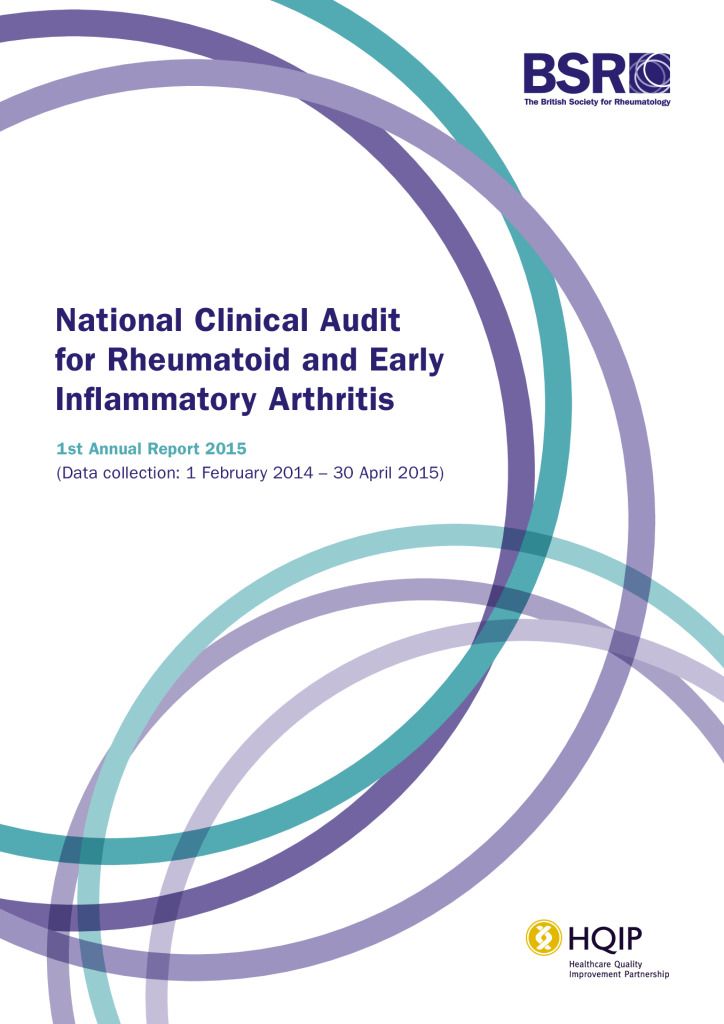 National clinical audit for rheumatoid & early inflammatory arthritis – annual report 2015