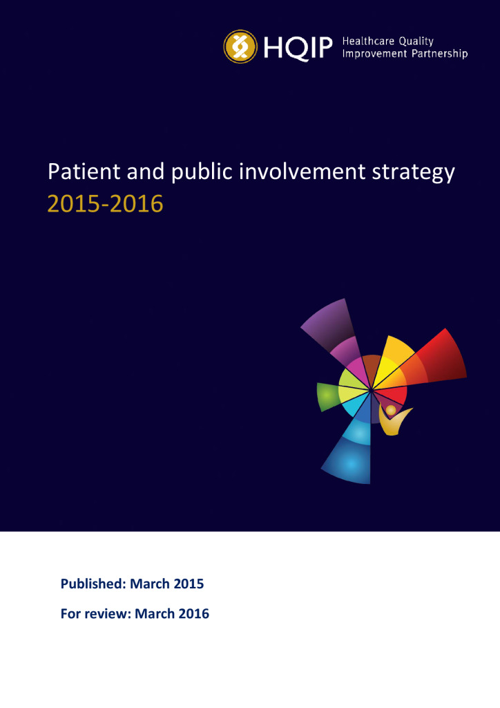 HQIP patient and public involvement strategy 2015/16