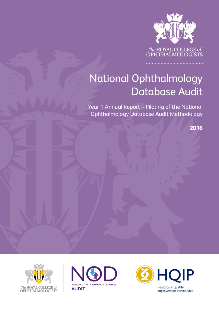 National Ophthalmology Database Audit – Annual Report 2016