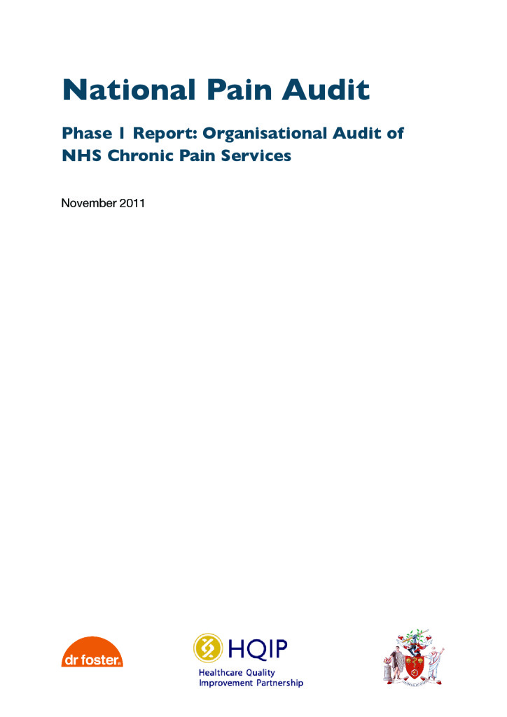 National Pain Audit: Reports from 2011 to 2012