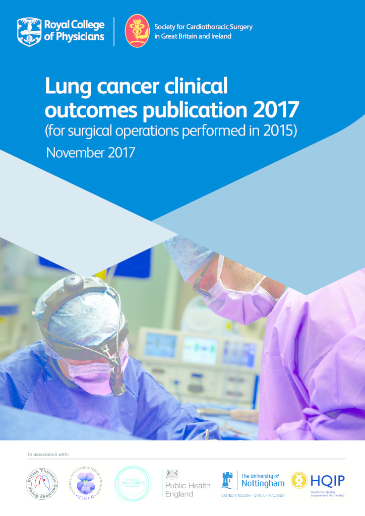 National Lung Cancer Audit: Clinical Outcomes Publication report 2017