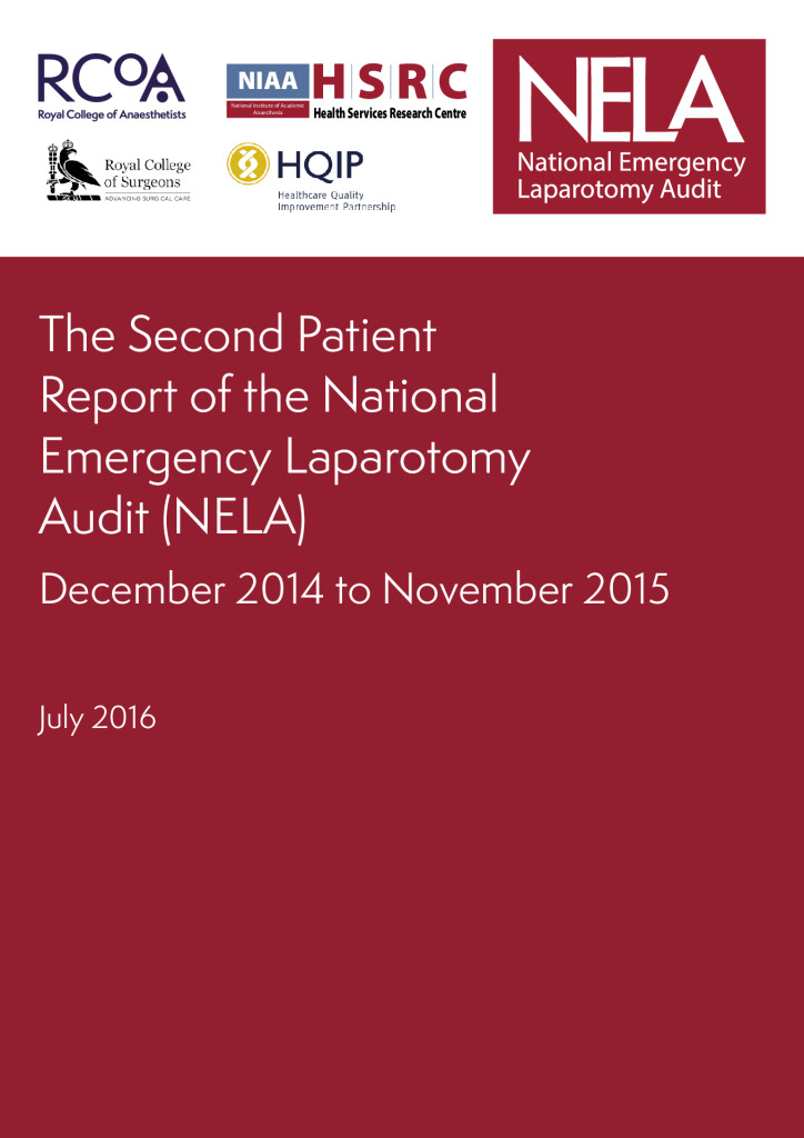 The Second Patient Report of the National Emergency Laparotomy Audit (NELA)
