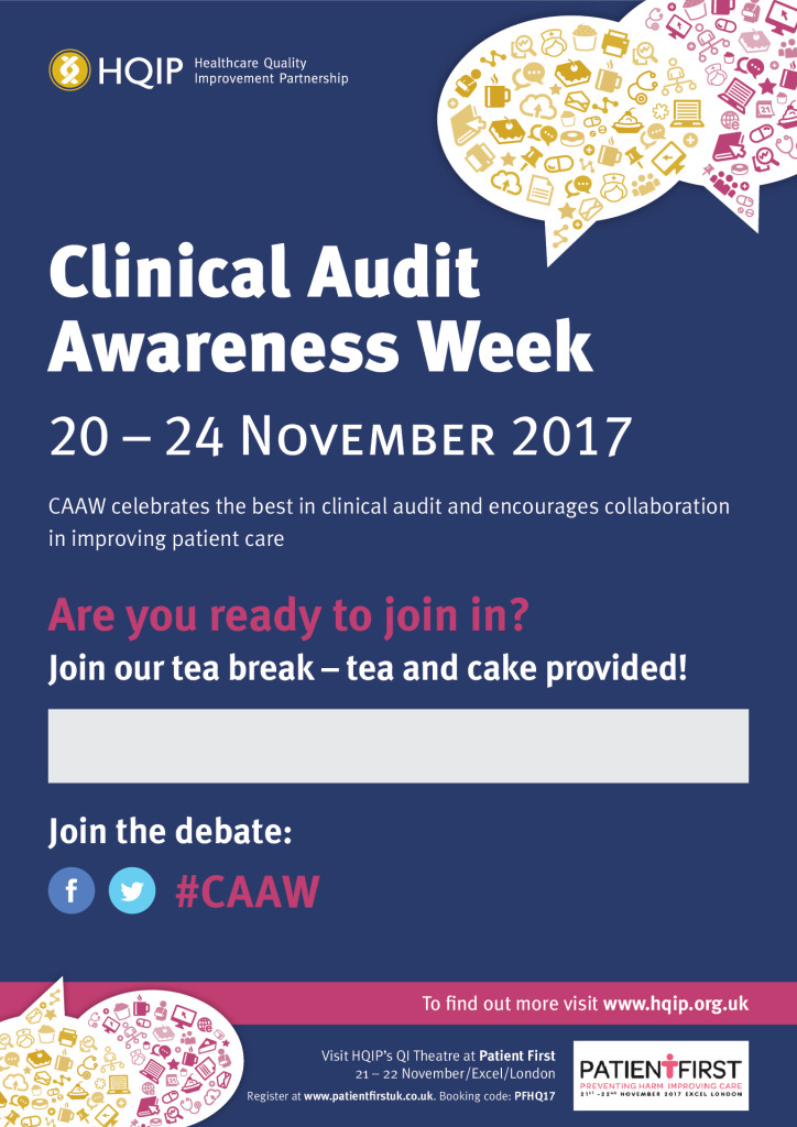 Clinical Audit Awareness Week 2017 takes place between the 20 – 24 November