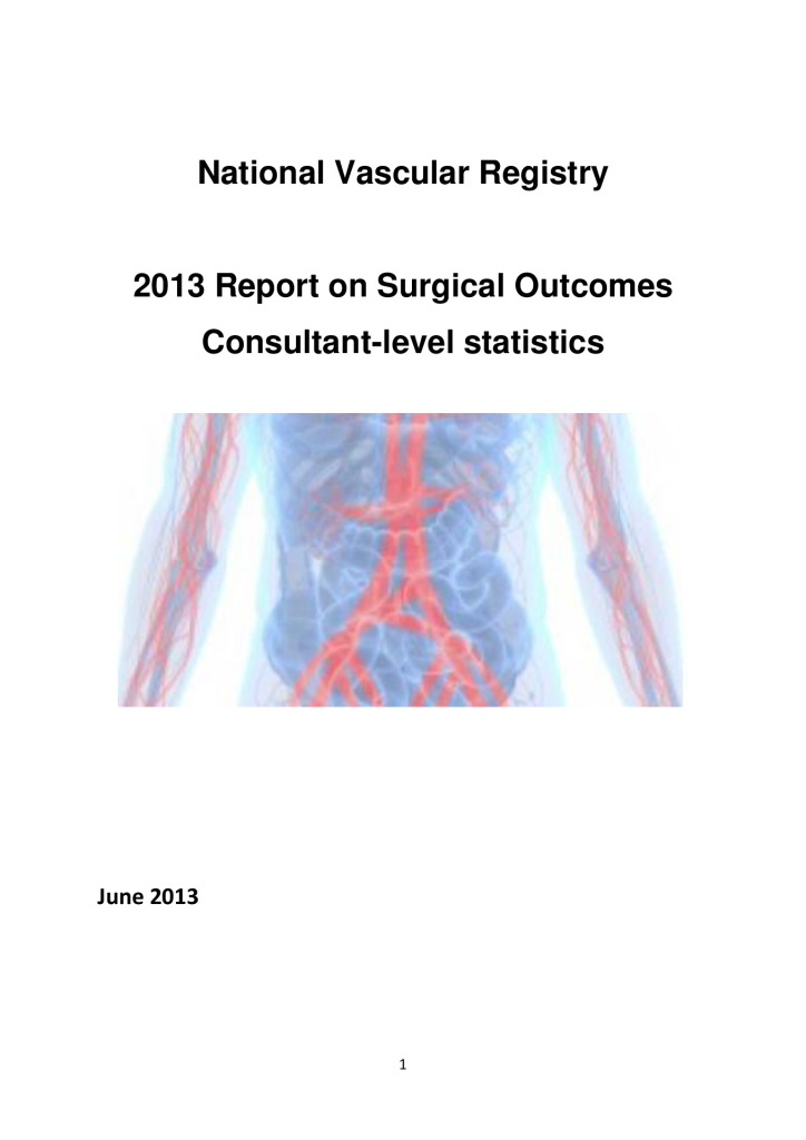 NVR: 2013 Report on Surgical Outcomes Consultant-level statistics