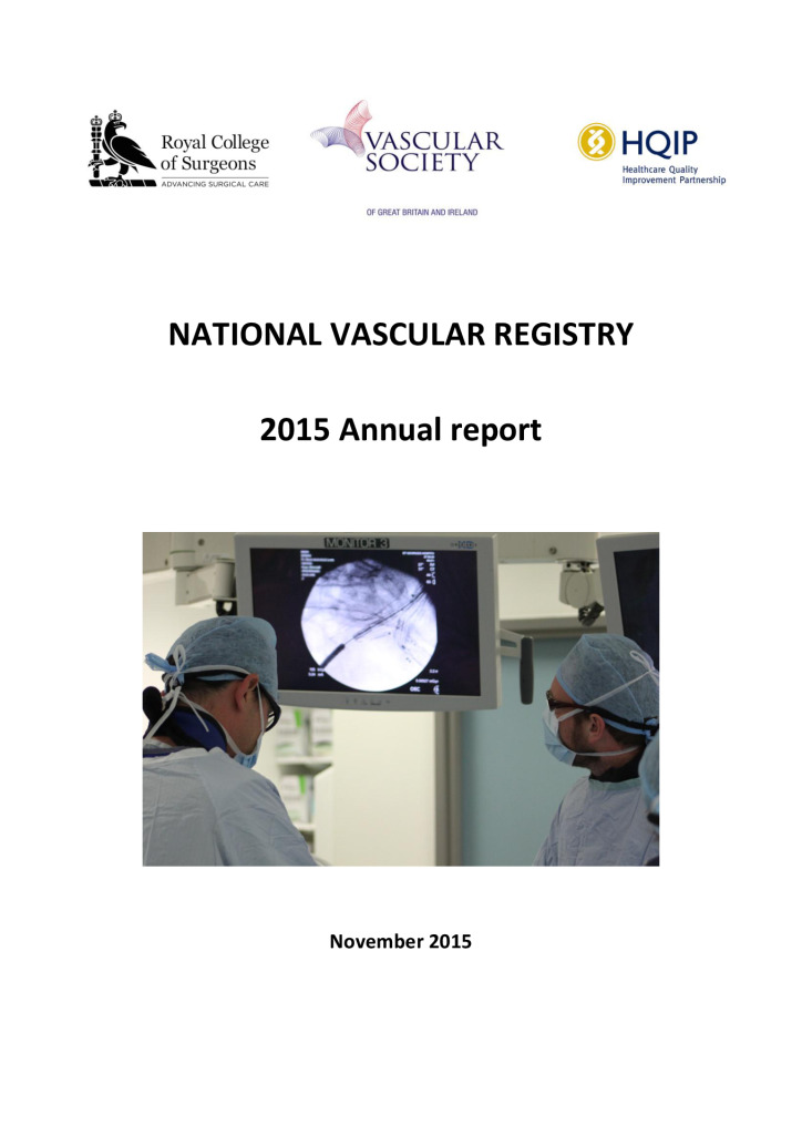 National Vascular Registry annual report 2015