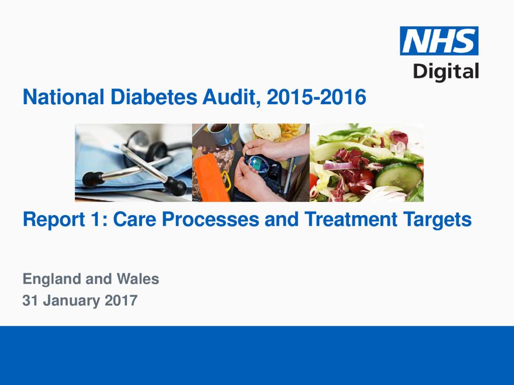 National Diabetes Audit 2015-16 Publication
