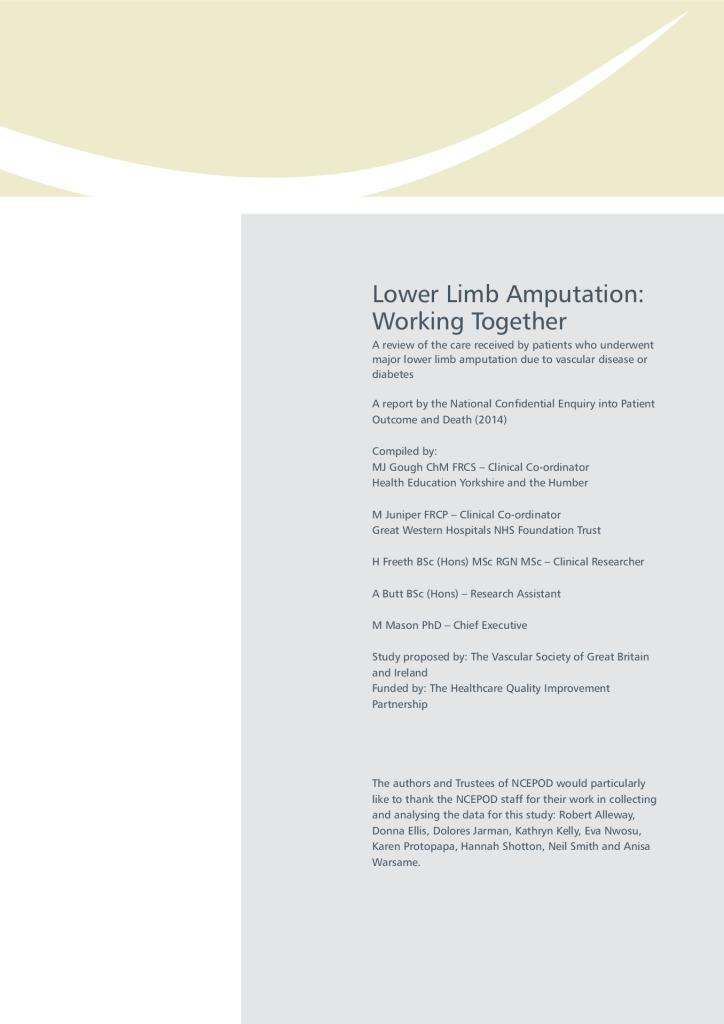 Lower limb amputation report