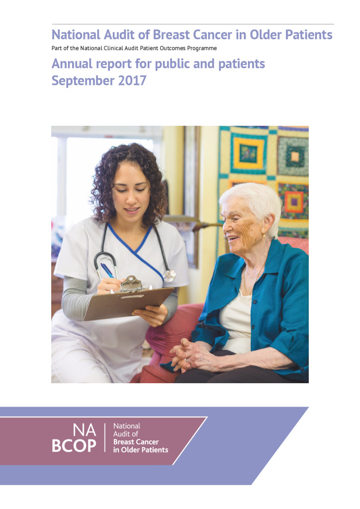National Audit of Breast Cancer in Older Patients: Annual report for public and patients September 2017