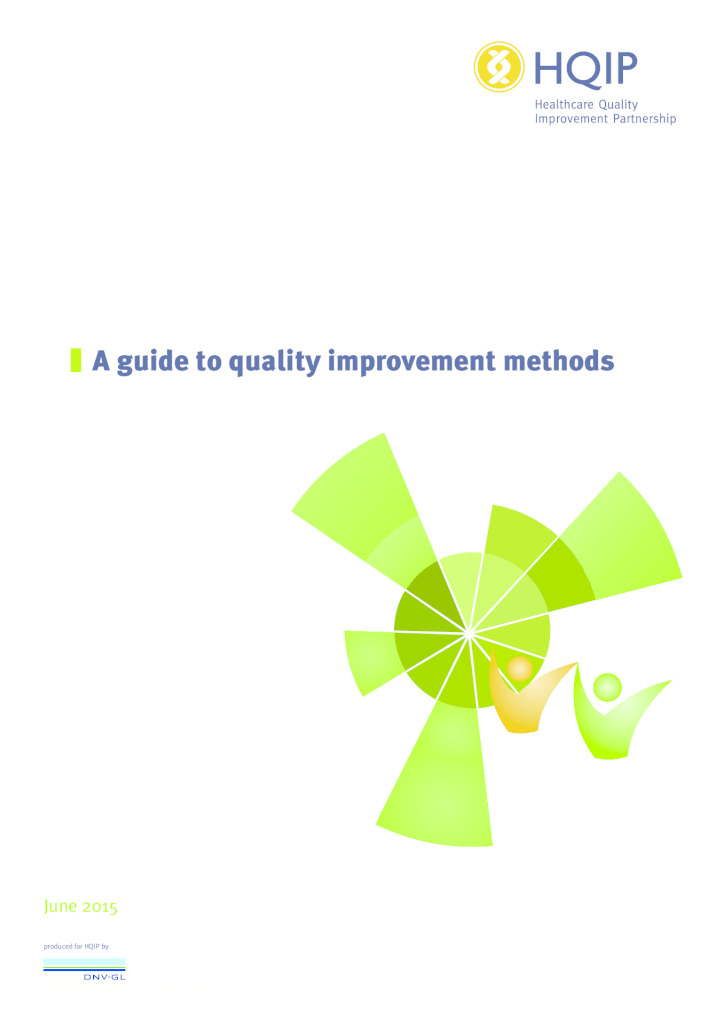 Guide to quality improvement methods