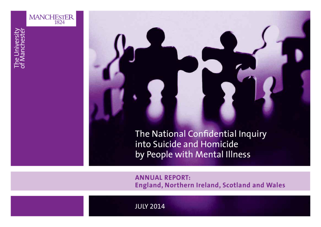 National confidential inquiry into suicide and homicide (NCISH) annual report 2014