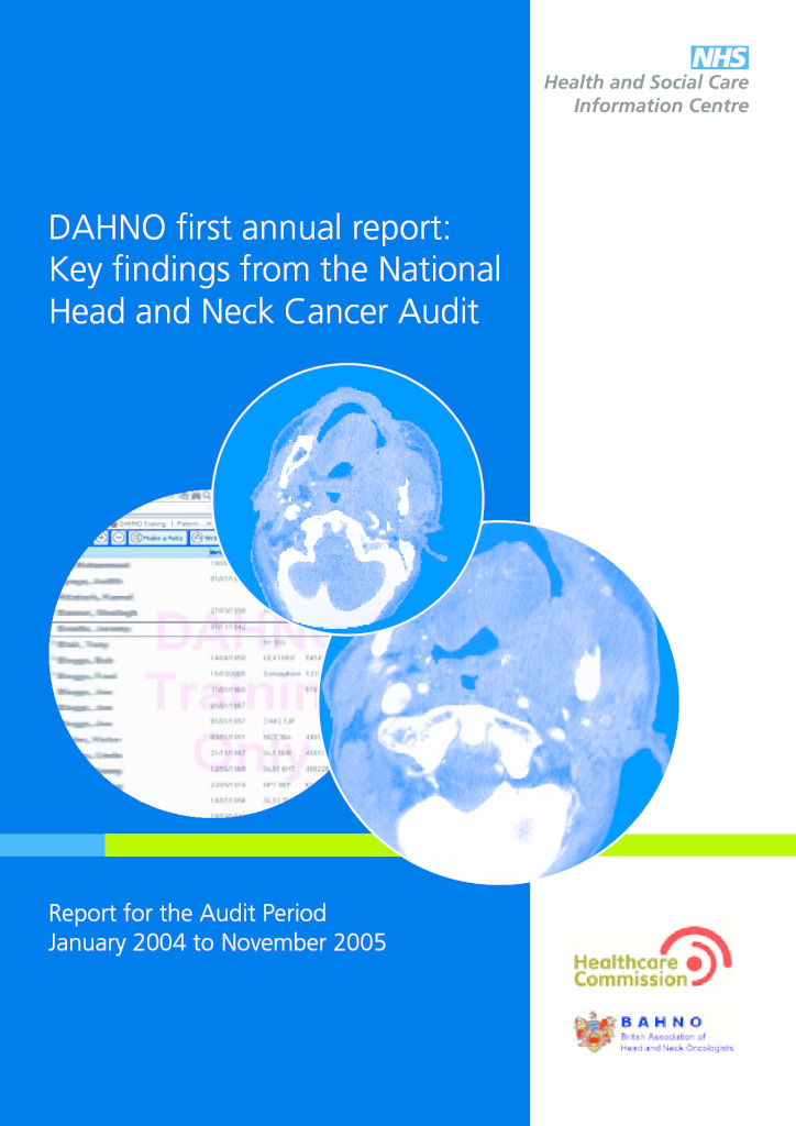National Head and Neck Cancer Audit Reports 2006 to 2015