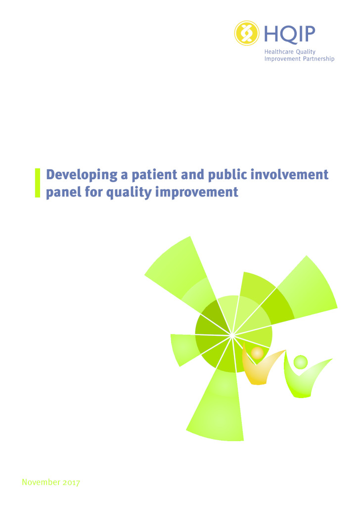 Developing a patient and public involvement panel for quality improvement