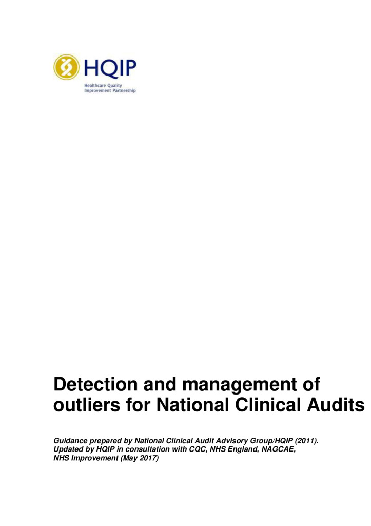 Detection and management of outliers for National Clinical Audits