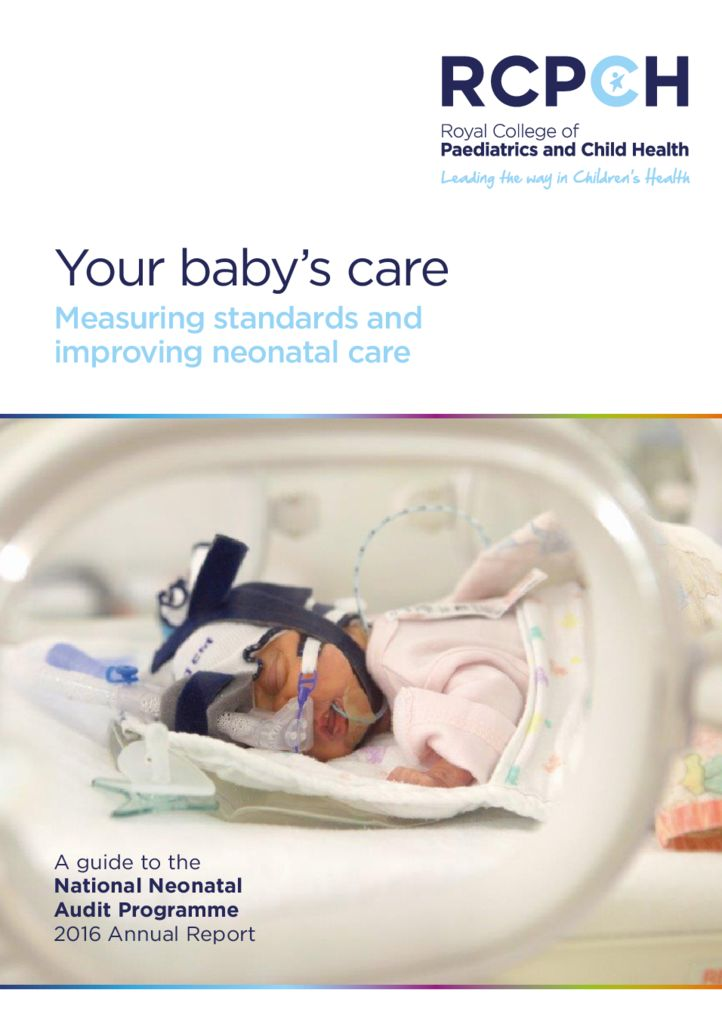 Your baby's care: Measuring standards and improving neonatal care