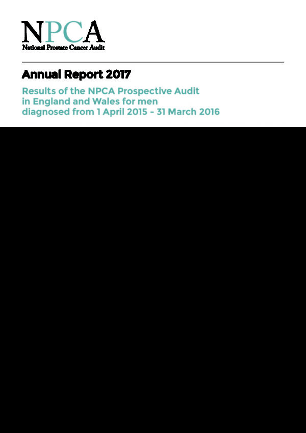thumbnail of National Prostate Cancer Audit 2017 Annual Report