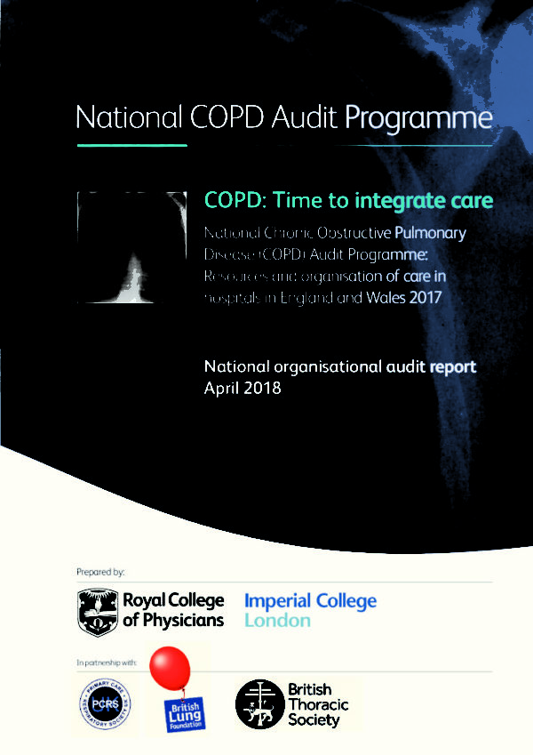 thumbnail of COPD National Audit Programme Resources organisation Care hospitals Time integrate care
