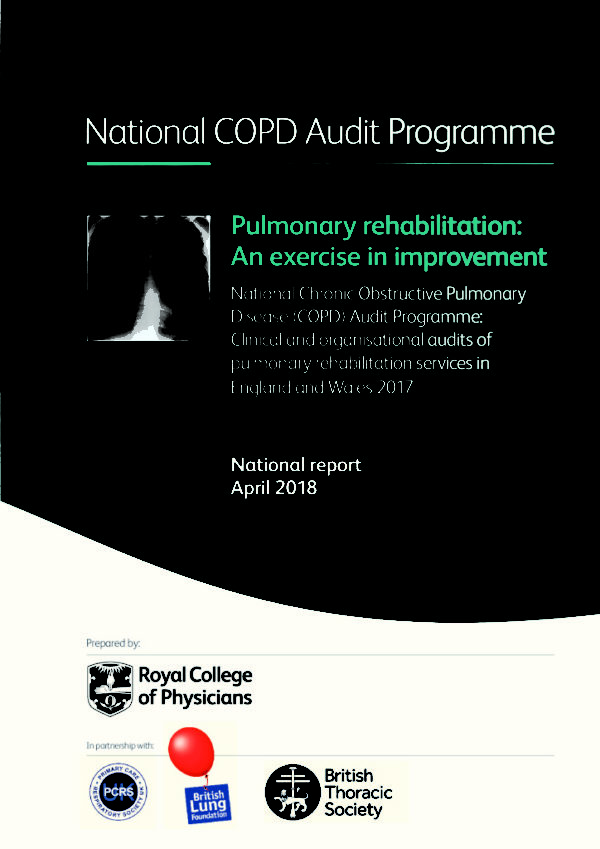 thumbnail of COPD National report 2018 Pulmonary rehabilitation, an exercise in improvement