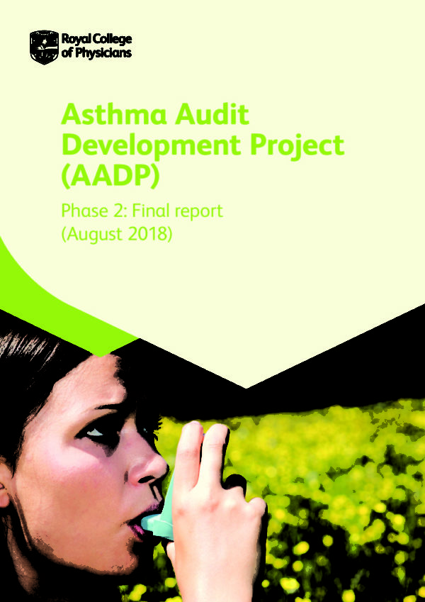 thumbnail of Asthma audit development project (AADP) phase 2 report_FINAL