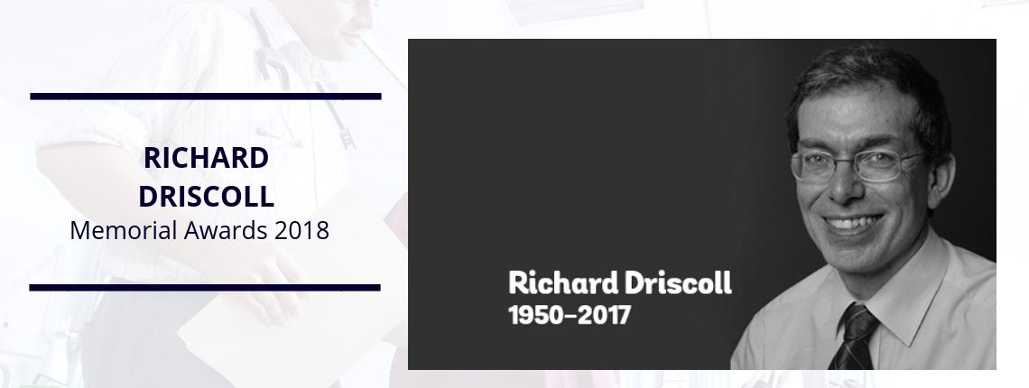 Inaugural Richard Driscoll Memorial Awards 2018 candidates announced
