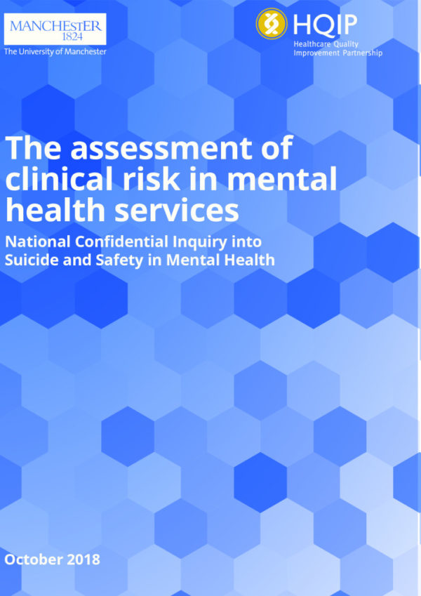 thumbnail of REPORT_The assessment of clinical risk in mental health services