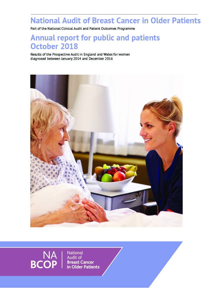 National Audit of Breast Cancer in Older Patients: Annual report for public and patients September 2018