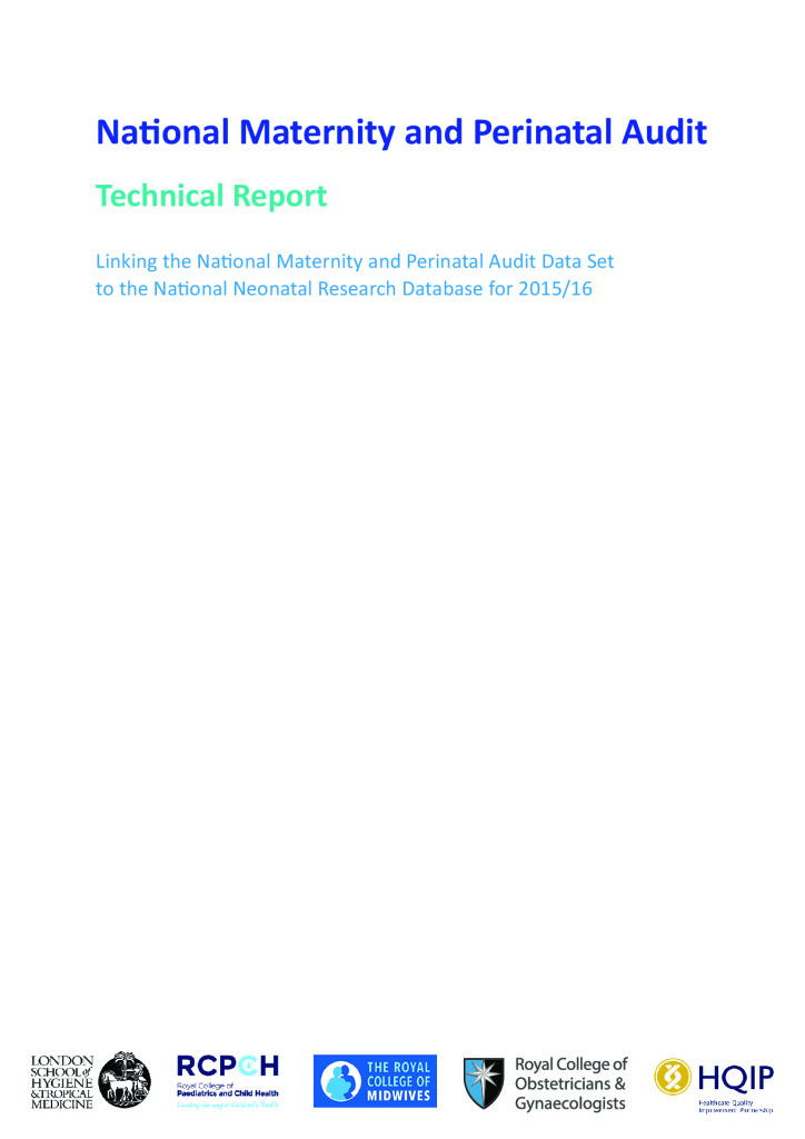 National Maternity and Perinatal Audit – Neonatal Report