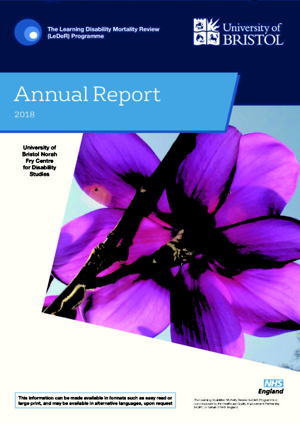 thumbnail of LeDeR Annual Report Final 21 May 2019