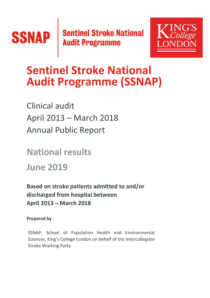 Sentinel Stroke National Audit Programme – Annual Report 2019