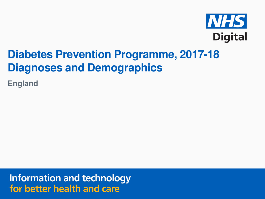 Diabetes Prevention Programme 2017-18