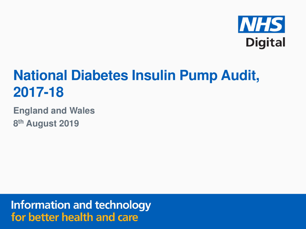 National Diabetes Insulin Pump Audit 2017-18 Report