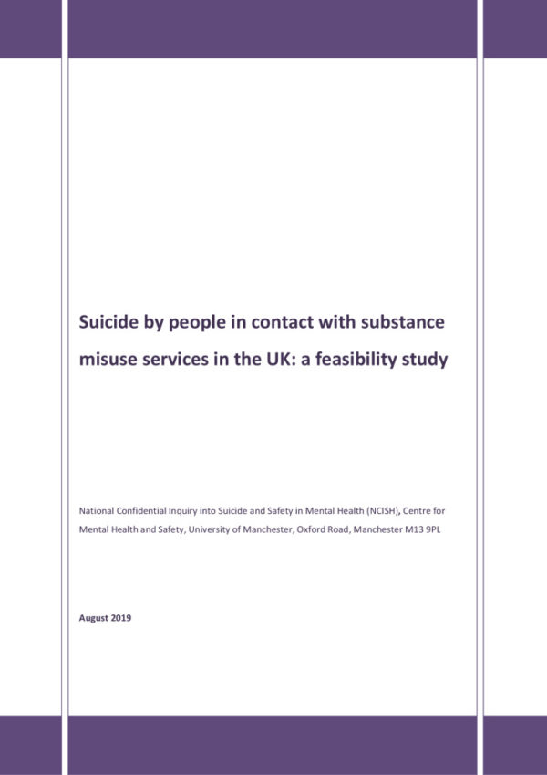 thumbnail of Suicide by people in contact with substance misuse service feasibility study FINAL