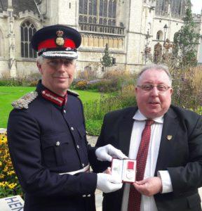 Medal awarded to Bren McInerney