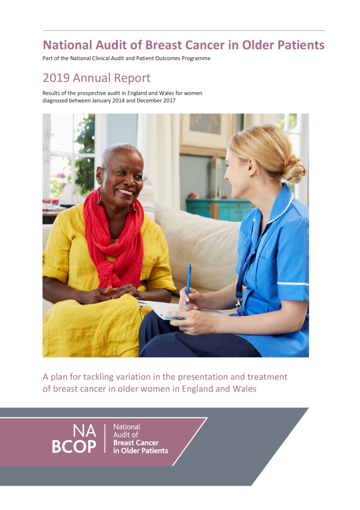 National Audit of Breast Cancer in Older Patients: 2019 Annual Report