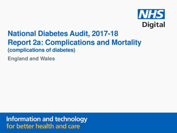 thumbnail of National Diabetes Audit, 2017-18, Report 2a