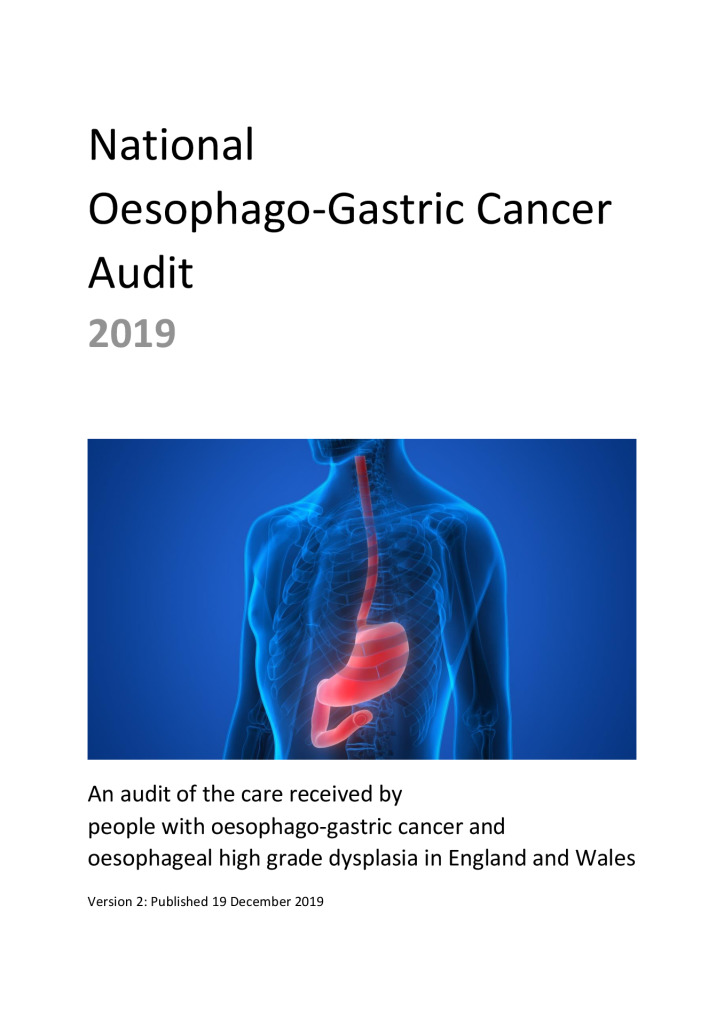 National Oesophago-Gastric Cancer Audit 2019
