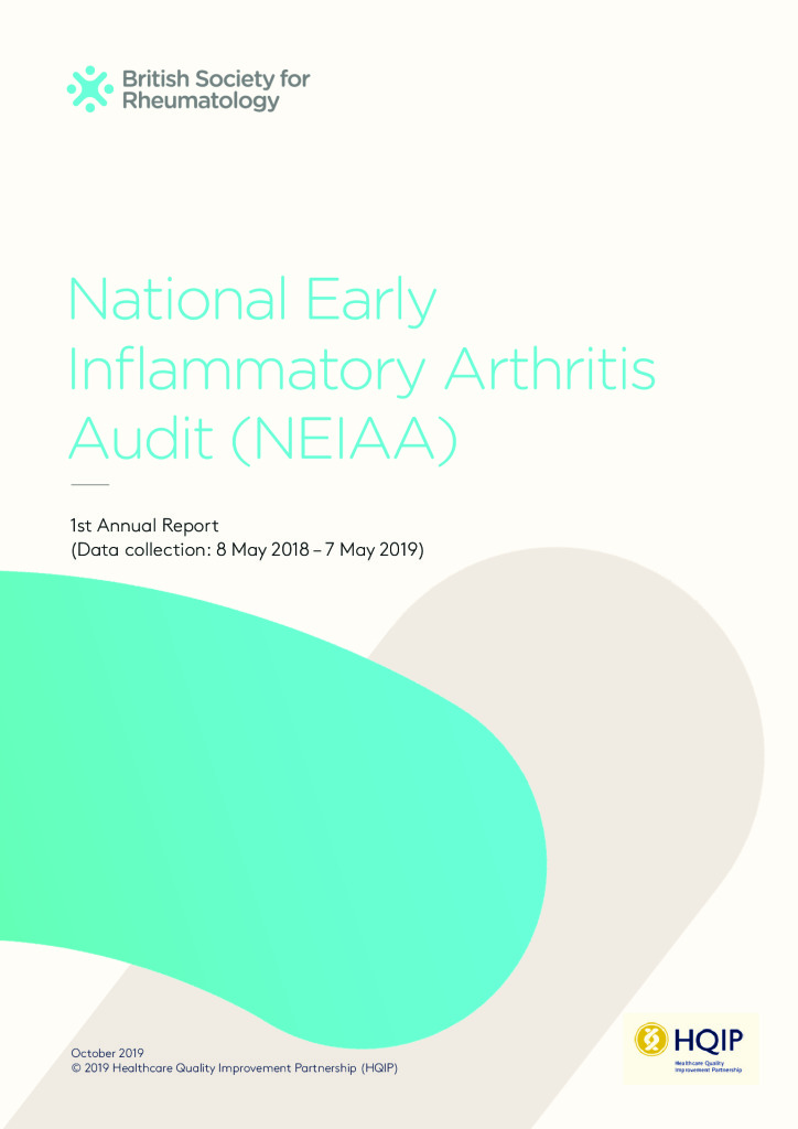 National Early Inflammatory Arthritis – First Annual Report